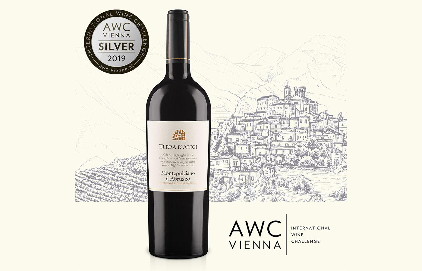 AWC Vienna 2019. Medaglia d'argento per il Montepulciano d'Abruzzo 2016 Terra d'Aligi!
